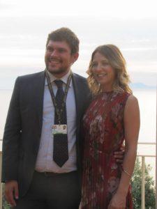 L'organizzatore e regista Giuseppe Alessio Nuzzo con Miriam Catania, madrina della manifestazione.